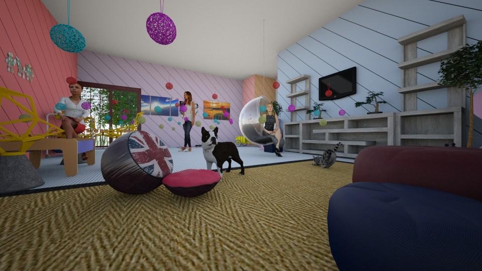 Playful Hallway - by I_love_my_dog_icecream_and_cookie