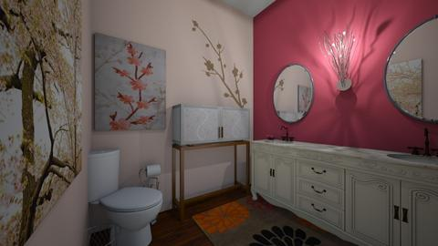 Cherry Blossom Powder Room - Bathroom  - by b sharp