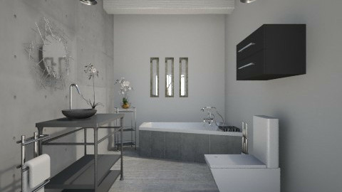Industrial Bathroom - Minimal - Bathroom  - by JazzyAllen
