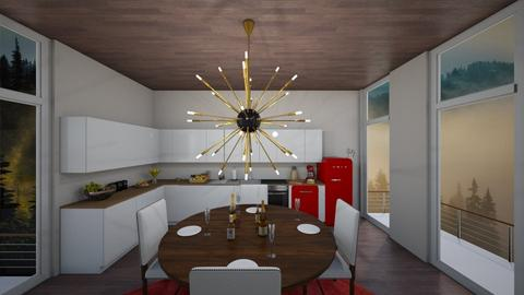 One Foggy Day - Eclectic - Dining room - by deleted_1588309730_ Koilee Bear