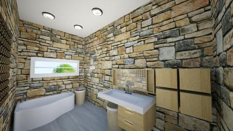 banheiro geral - Rustic - Bathroom  - by rafaelavitorino93