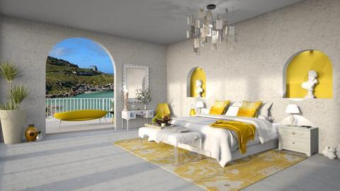 Greek Hotel Bedroom remix - Bedroom  - by Doraisthe_nameofmydoggo12345