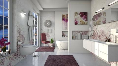 Mosaic Purple - Bathroom - by Ania Daliva