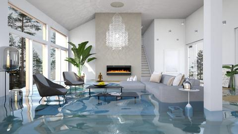 Flooded Chandelier - Global - Living room  - by itsbinflooded