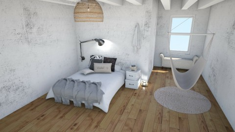 Chic Loft - Minimal - Bedroom  - by kristina_bina