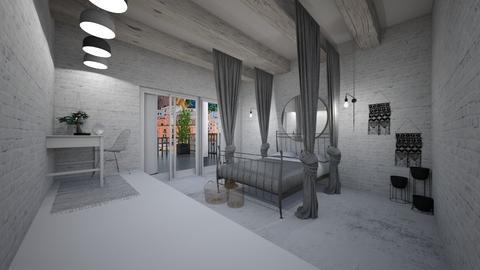 Loft Style - Modern - Bedroom  - by evabarrett