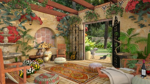 Design 210 Hacienda Hideaway - Garden  - by Daisy320