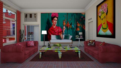 Frida Kahlo - Retro - Living room  - by deleted_1574768015_Elenn