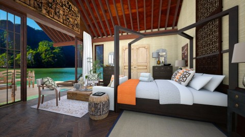 thai bedroom - Eclectic - Bedroom  - by gloria marietti