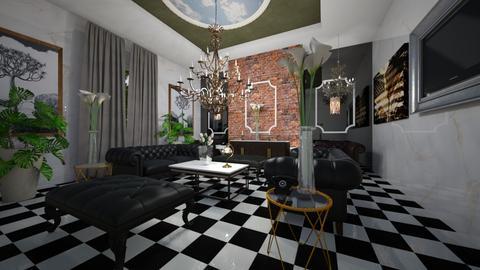 Embassy Interior - Classic - Living room  - by Nikos Tsokos