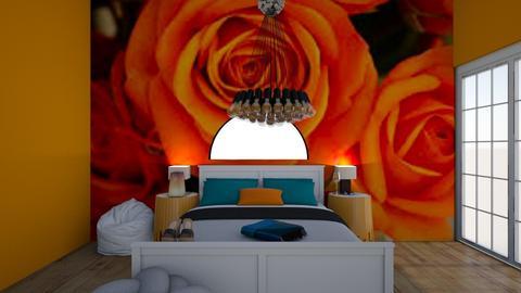orange - Classic - Bedroom  - by Itsavannah