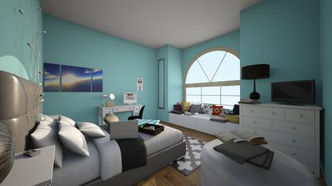 Blue - Bedroom - by Kaitlyn Z