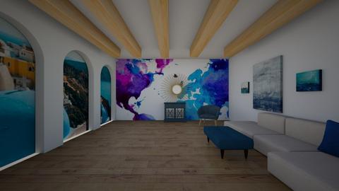Greek living - Living room  - by hannahelise