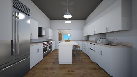 Simple Gray Kitchen - Kitchen - by michaelneilldesigns