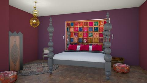 indian pigments bedroom 2 - Bedroom  - by vagrfd