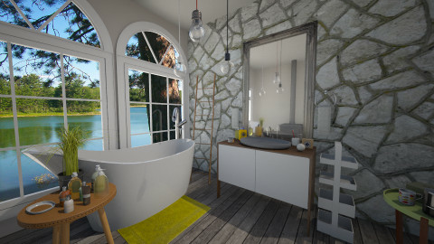 Bathe by the Bay Window - Eclectic - Bathroom  - by idesine