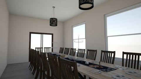 dining room  - by Chix Ovenden