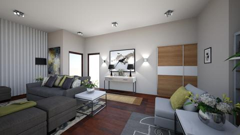 HH MASTER DESIGN PLAN - Modern - Living room  - by kickicole
