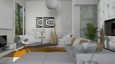 Mainly White - Modern - Living room - by janip