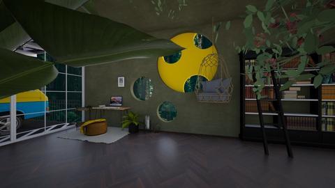 Yellow Green Working Room - by Yudum Kutlu