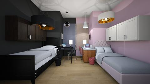 twin bedroom - Feminine - Bedroom - by the ice magical unicorn