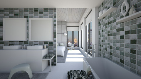 Upper East Side - Bathroom  - by KRdesign