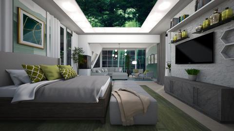Sage Green Bedroom - by NinjaKidd22431