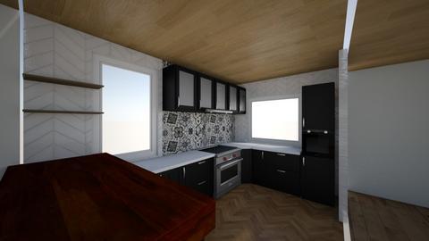 Kitchen1 without brick 3 - Kitchen  - by sancharib