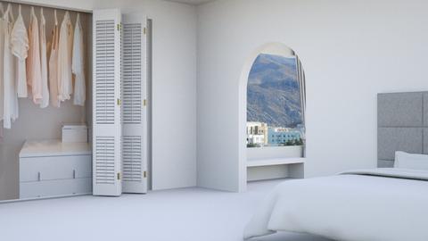 Greek - Modern - Bedroom  - by kaede11