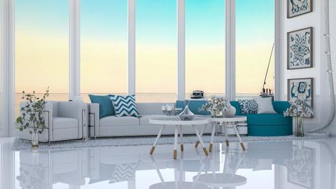 Grecian Living _ A Sunset - Living room  - by KittyT6