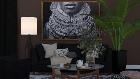 Noir et Marron - Modern - Living room  - by HenkRetro1960