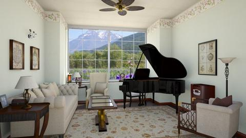 Piano Room - Classic - Living room - by Psweets