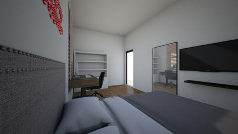 BED 1 - Modern - Bedroom  - by mochiiiiiiiiiii