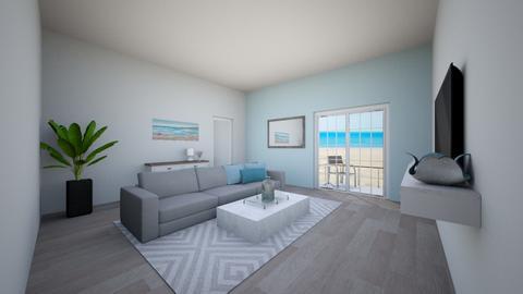 Modern beach house - Living room - by horsebunny9