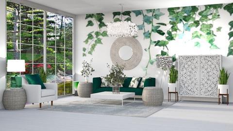 GREEN VINES LIVING ROOM - Modern - Living room  - by RS Designs