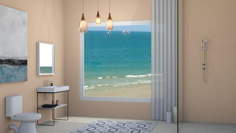Beach Hut Bathroom - Bathroom  - by designcat31