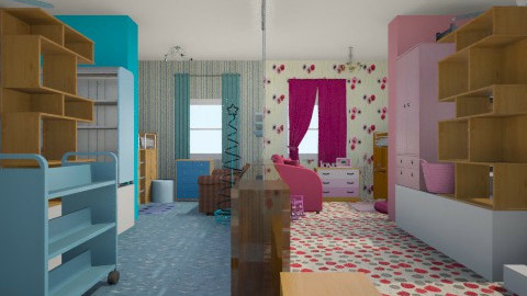toddlers divided room - Glamour - Kids room - by gab deopita