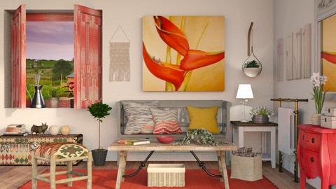 OKeeffe inspired Living - Vintage - Living room - by Sally Simpson