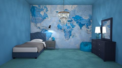 Shades of Blue  - Bedroom  - by kennygh