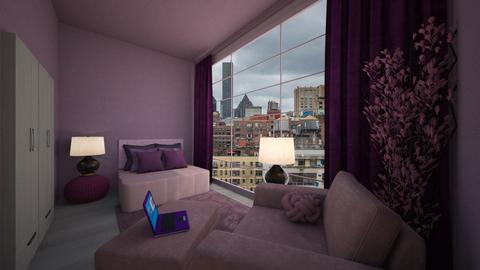 Pink and purple - Bedroom  - by daydreamer84