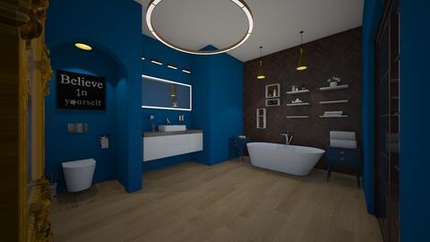 Modern Master bathroom - by bellavanderwal