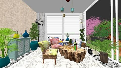 Indoor Yard - Living room - by elenatsempeli
