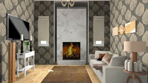 Warm Winter - Rustic - Living room  - by Charlotte Tayeh