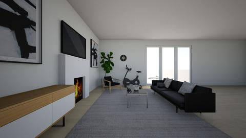 Michael Roy 1st house - Living room  - by asalinas