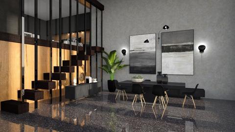 Loft - Minimal - Dining room  - by Claudia Correia