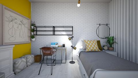 Quarto Kamily - Rustic - Bedroom  - by paulalimaaz