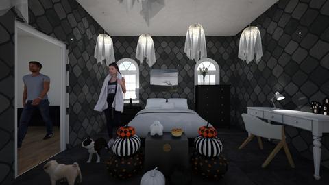 halloween room UwU - Bedroom  - by jaxi121