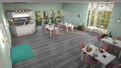 Modern pink restaurant  - Modern - Dining room - by aschaper