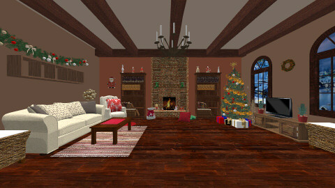 Christmas - Living room  - by Evihun
