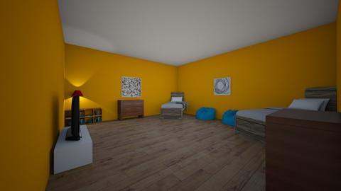 twins bed room - Kids room  - by designgirl22